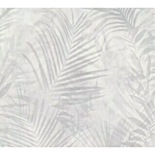 AS Creation Neue Bude 2.0 ED II Vliestapete Palme (Grau, Floral, 10,05 x 0,53 m)