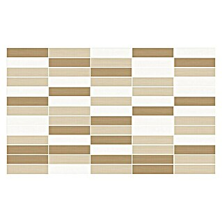 Revestimiento de pared Mosaico Mix (33 x 55 cm, Marrón/Beige/Blanco, Brillante)(33 x 55 cm, Marrón/Beige/Blanco, Brillante)