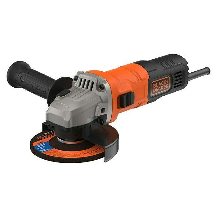 Black+Decker Amoladora BEG010 (710 W, Diámetro disco: 115 mm)