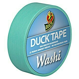 Duck Tape Kreativklebeband Washi (Bright Blue, 10 m x 15 mm)(Bright Blue, 10 m x 15 mm)