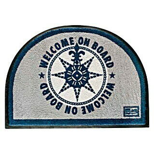 Marine Business Welcome on Board Alfombra media luna (Azul, L x An: 70 x 50 cm)(Azul, L x An: 70 x 50 cm)