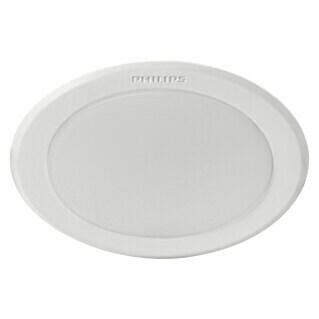 Philips Downlight LED empotrable redondo Meson (6 W, Color de luz: Blanco neutro, Ø x Al: 9,5 x 4,55 cm, No regulable, Blanco)(6 W, Color de luz: Blanco neutro, Ø x Al: 9,5 x 4,55 cm, No regulable, Blanco)