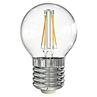 Garza Bombilla LED (4 W, E27, Color de luz: Blanco cálido, No regulable, Redondeada)(4 W, E27, Color de luz: Blanco cálido, No regulable, Redondeada)