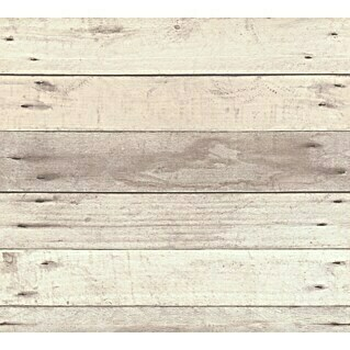 AS Creation Il Decoro Vliestapete Diele (Beige, Holzoptik, 10,05 x 0,53 m)