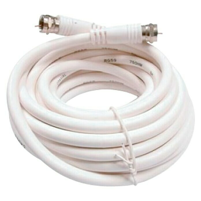 Cable coaxial (2 m, Blanco)