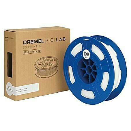 Dremel 3D-Drucker-Filament PLA-DF70 (Polylactide (PLA), 1,75 mm, Transparent)