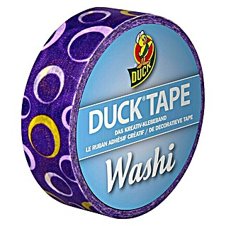 Duck Tape Kreativklebeband Washi (Purple Circle Violet, 10 m x 15 mm)(Purple Circle Violet, 10 m x 15 mm)