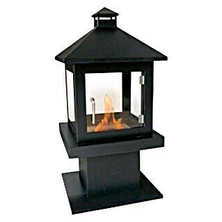 Purline Chimenea de bioetanol Purline (500 x 500 x 1.000 mm, Nero)(500 x 500 x 1.000 mm, Nero)