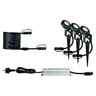 Paulmann Plug & Shine LED-Gartenspot-Set Sting (6 W, 3-flammig, Erdspieß, IP67)