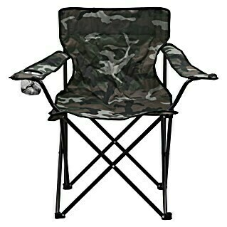 Campingstuhl (52 cm, Polyester, Camouflage)(52 cm, Polyester, Camouflage)