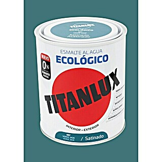 Titanlux Esmalte de color Eco Verde jade (750 ml, Satinado)(750 ml, Satinado)