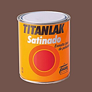 Titan Titanlak Esmalte de poliuretano (Marrón, 750 ml, Satinado)(Marrón, 750 ml, Satinado)
