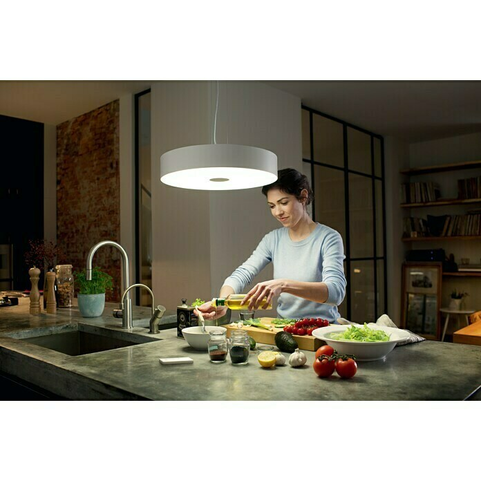 Philips Hue Lámpara colgante LED Fair (39 W, Blanco, Ø x Al: 44,4 x 150 cm)