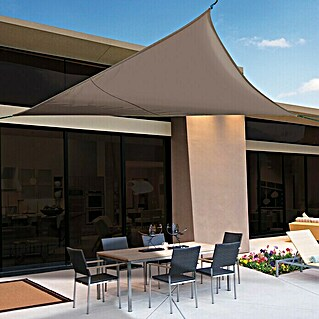 Nortene Toldo vela Sunnet Kit Triangular (3,6 x 3,6 m, Marrón)