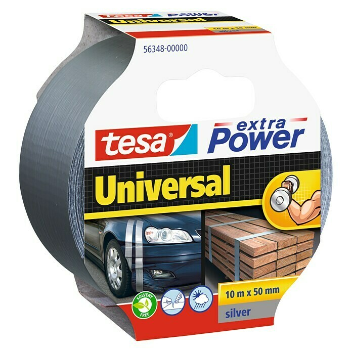 tesa Extra Power Folienband Universal (Grau, 10 m x 50 mm)