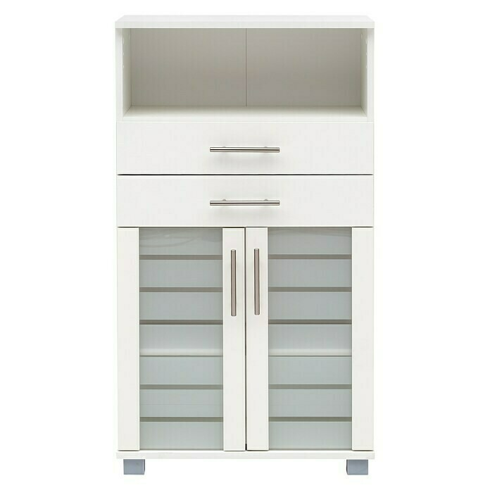 Schildmeyer Niko Highboard (32,6 x 60 x 110,5 cm, Perlweiß)