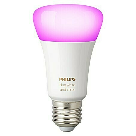Philips Hue LED-Leuchtmittel White & Color Ambiance (E27, 9 W, RGBW, Dimmbar, 1 Stk.)