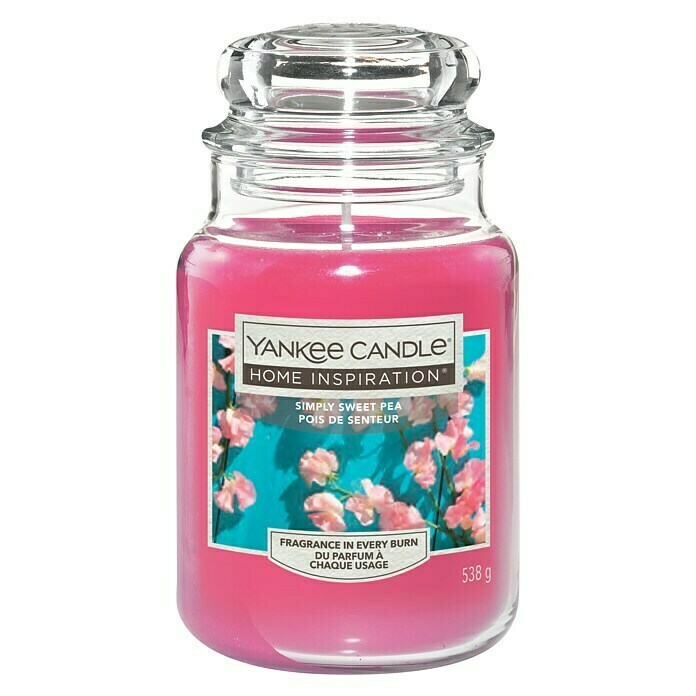 Yankee Candle Home Inspirations Duftkerze (Im Glas, Simply Sweet Pea, Large)