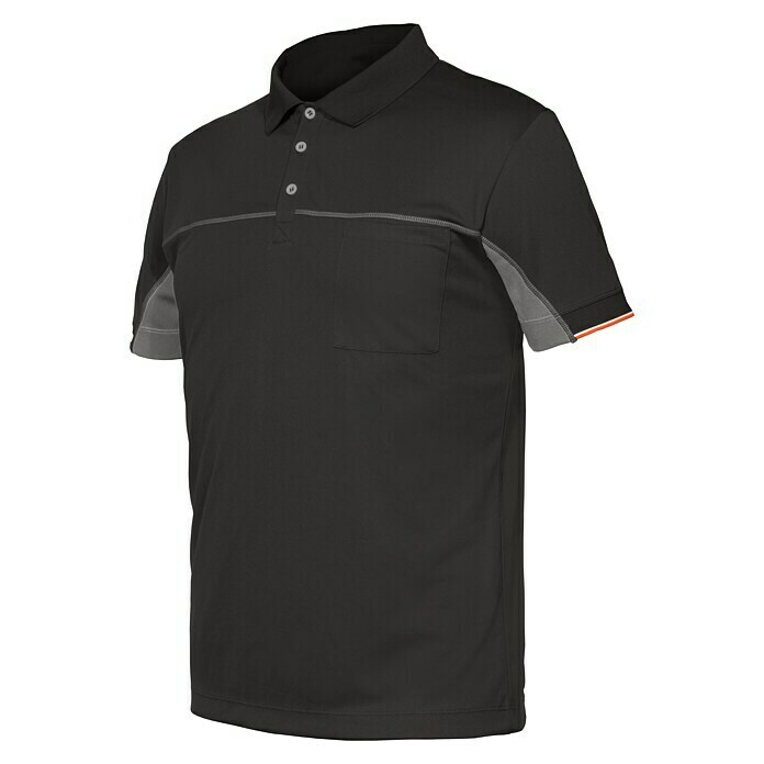 Industrial Starter Stretch Polo Extreme (S, Gris oscuro)