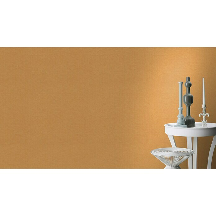 FREUNDIN HOME COLLECTION III Vliestapete (Orange, Uni, 10,05 x 0,53 m)