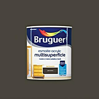 Bruguer Esmalte de color Acrylic Multisuperficie (Gris arena, 750 ml, Satinado)(Gris arena, 750 ml, Satinado)