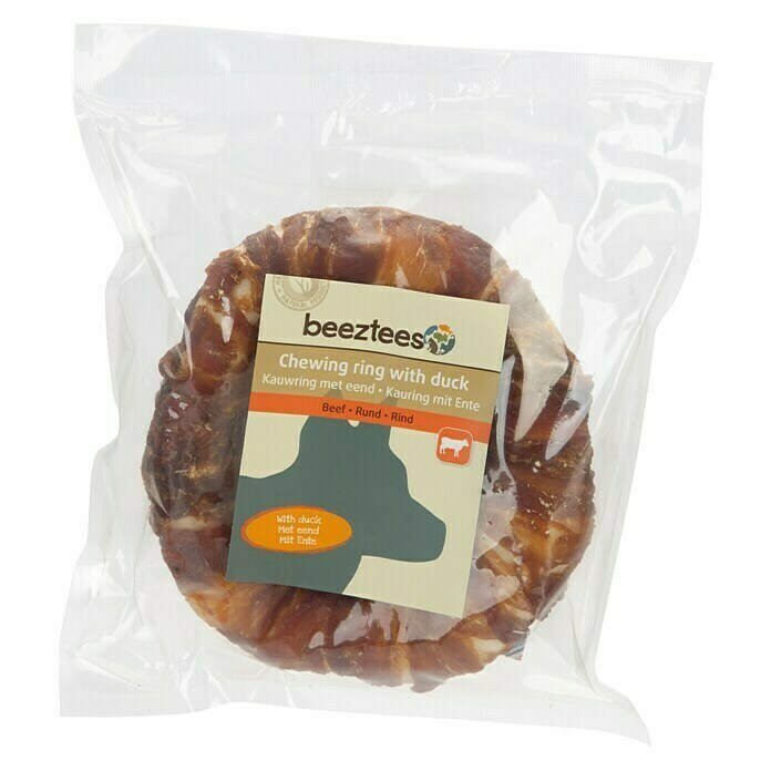 Beeztees Hundesnack Kauring (1 Stk., Mit Ente)