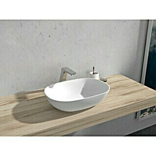 Camargue Lavabo Estanyol (An x L: 50 x 35 cm, Solid Surface, Blanco)(An x L: 50 x 35 cm, Solid Surface, Blanco)