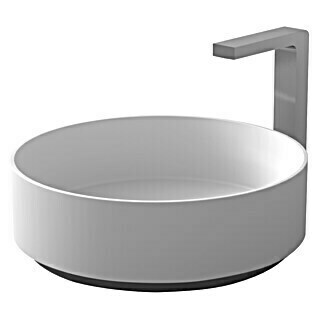 Camargue Lavabo Salinas (An x L: 38 x 38 cm, Solid Surface, Blanco)(An x L: 38 x 38 cm, Solid Surface, Blanco)