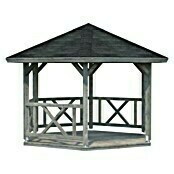 Palmako Pavillon Betty (L x B: 337 x 337 cm, Grau)