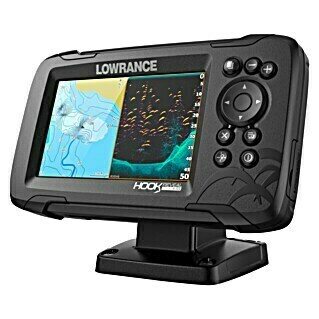 Lowrance Fishfinder Hook Reveal 5 Splitshot (Geber: Reveal 83/200 HDI-Geber, Bildschirmtyp: 5″/127 mm Solar Max Display)