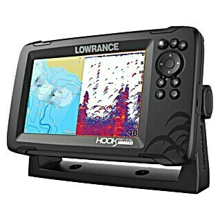 Lowrance Fishfinder Hook Reveal 7 Splitshot (Geber: Reveal 83/200 HDI-Geber, Bildschirmtyp: 7″/178 mm Solar Max Display)
