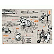 Komar Star Wars Fototapete Blueprints (8-tlg., 368 x 254 cm)