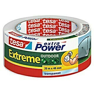 tesa Extra Power Folienband Extreme Outdoor (Transparent, Selbstklebend)