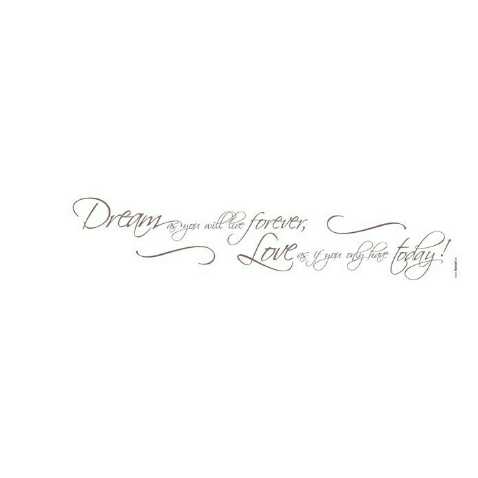 Komar Dekosticker (Dream as you will, Lila, 70 x 14 cm) -