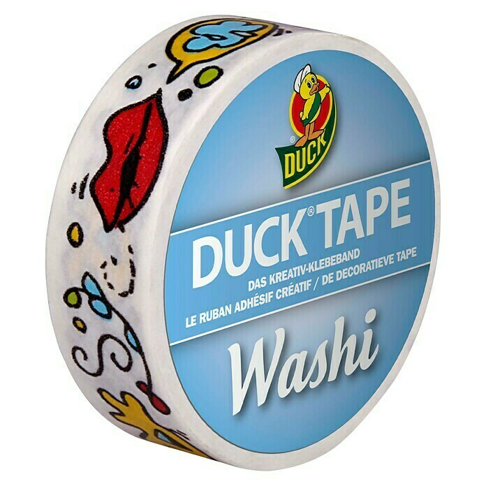 Duck Tape Kreativklebeband Washi (Pop Art, 10 m x 15 mm) -
