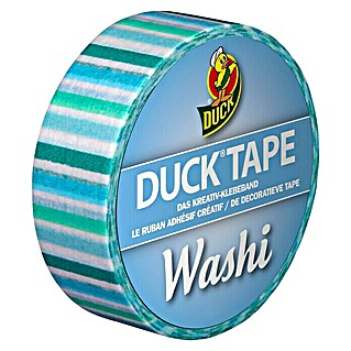 Duck Tape Kreativklebeband Washi (Blue Stripes, 10 m x 15 mm)(Blue Stripes, 10 m x 15 mm)