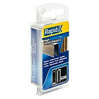 Rapid Grapa estrecha Tipo 606 (15 mm, Anchura parte trasera: 6 mm, 1.200 uds.)(15 mm, Anchura parte trasera: 6 mm, 1.200 uds.)