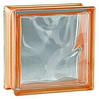 Fuchs Design Glasbaustein Reflex (Orange, Wolke, 19 x 19 x 8 cm)(Orange, Wolke, 19 x 19 x 8 cm)