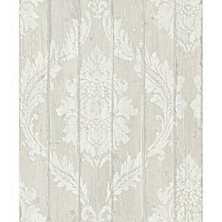 FREUNDIN HOME COLLECTION Vintage Vliestapete (Hellgrau, Ornament, 10,05 x 0,53 m)