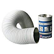 Tubo flexible de aluminio (Ø x L: 100 mm x 100 cm, Blanco)