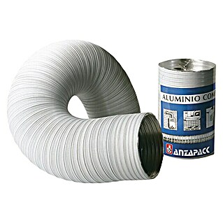 Tubo flexible de aluminio (Ø x L: 100 mm x 200 cm, Blanco)