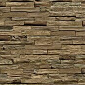 Indo Holzpaneele 3D Wall Classic Sumatra Nature (Teak, 610 x 150 x 10 mm, 11 Paneele)