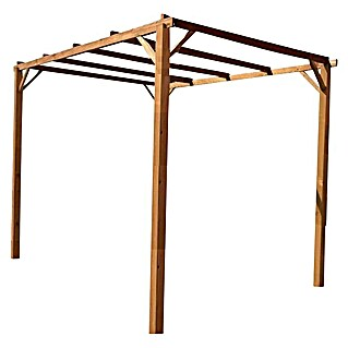 Pérgola Eco (L x An x Al: 300 x 300 x 250 cm, Natural)(L x An x Al: 300 x 300 x 250 cm, Natural)