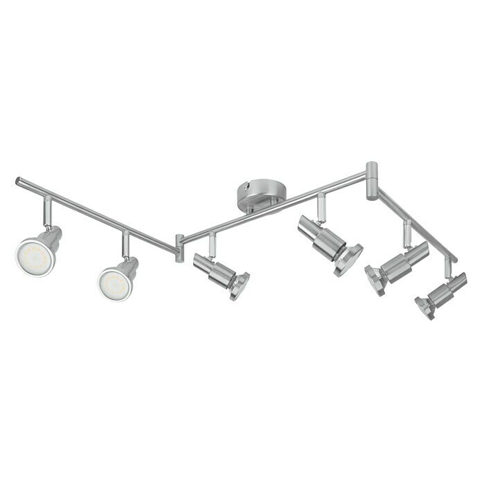 LED-Deckenstrahler (6 x 3 W, Länge: 1.190 mm, Warmweiß, Nickel matt)