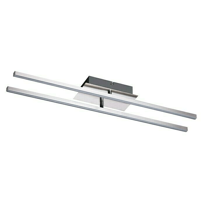 Tween Light LED-Deckenleuchte Vanzone (16 W, Warmweiß, 61 x 10,5 x 7,5 cm, Chrom)