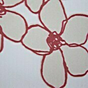 Expo Ambiente Flächenvorhang Bloom (Weiß/Rot, 100 % Polyester, 60 x 245 cm)