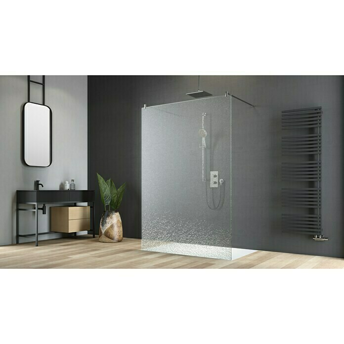 Camargue Douchewand Crash Glass (135 x 200 cm, Gecoat, Dikte: 12,5 mm)