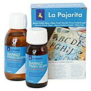 La Pajarita Barniz Kit Finish Glass (Brillante, 120 ml, Incoloro)(Brillante, 120 ml, Incoloro)