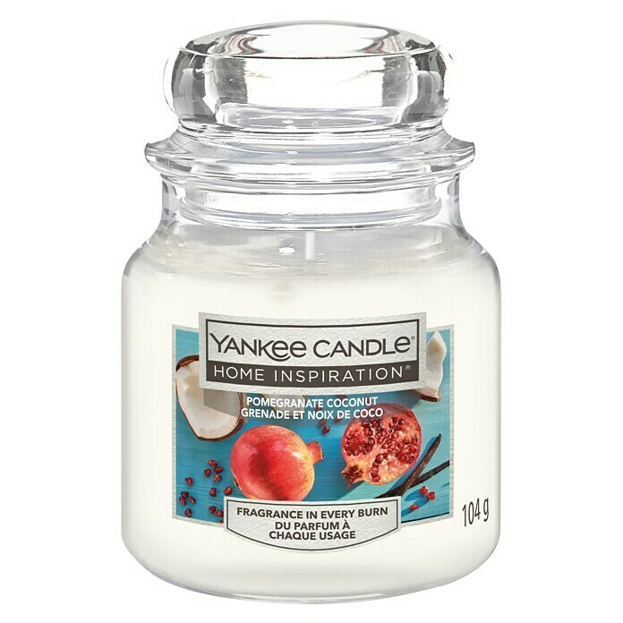 Yankee Candle Home Inspirations Duftkerze (Im Glas, Pomegranate Coconut, Small)