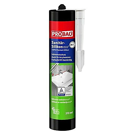 Probau eco Sanitär-Silikon (Transparent, 310 ml)
